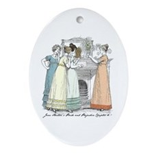 Pride & Prejudice Ch 16 Oval Ornament