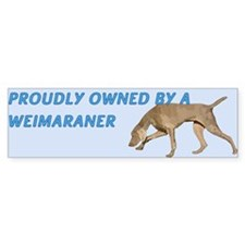 Proudly Owned Weimaraner Car Sticker