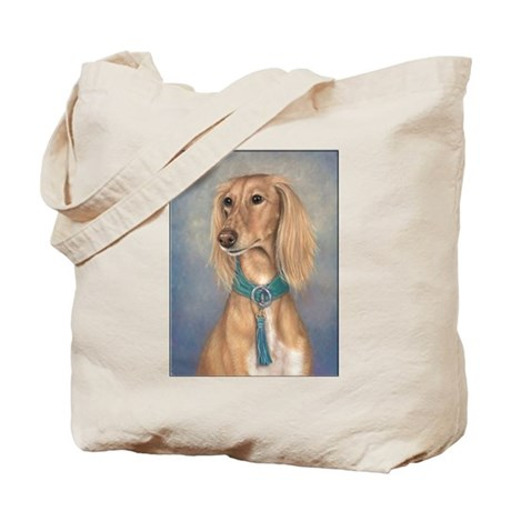 Saluki (Red) Tote Bag