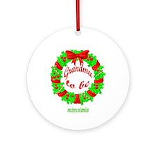 GRANDMA2B3-XMAS Ornament (Round)