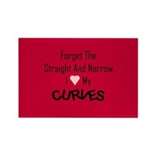 I Love My Curves (Dark) Rectangle Magnet