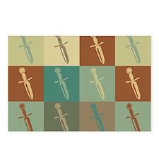 Knives Pop Art Postcards (Package of 8)