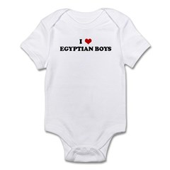 I Love EGYPTIAN BOYS Infant Bodysuit