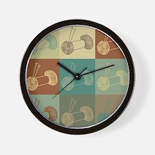 Knitting Pop Art Wall Clock