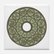 Chinese Zodiac Coin Tile Coaster