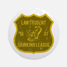 Law Student Drinking League Ornament (Round)