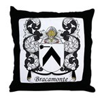 Bracamonte Family Crest Throw Pillow