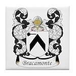 Bracamonte Family Crest Tile Coaster