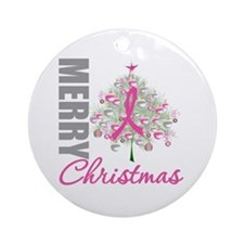 PinkRibbon X-MasTree Ornament (Round)