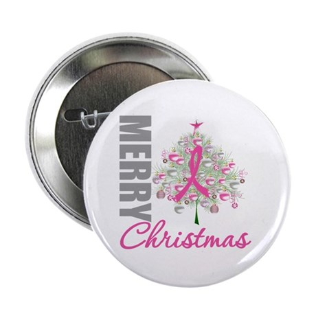 "PinkRibbon X-MasTree 2.25"" Button (100 pack)"