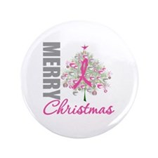 "PinkRibbon X-MasTree 3.5"" Button (100 pack)"