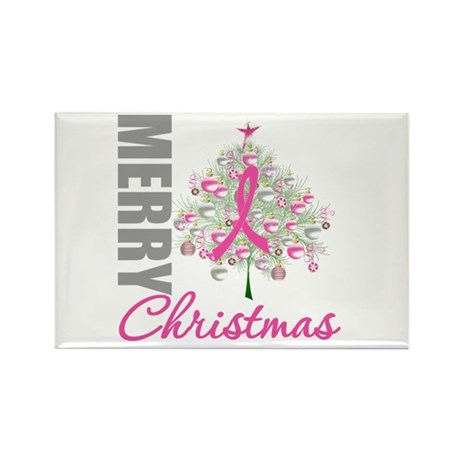 PinkRibbon X-MasTree Rectangle Magnet