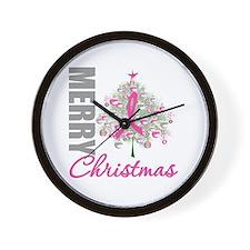 PinkRibbon X-MasTree Wall Clock