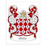 Brito Family Crest Small Poster