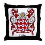 Brito Family Crest Throw Pillow