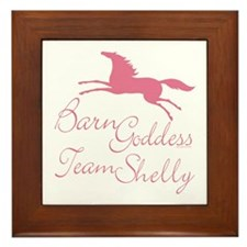 Team Shelly Barn Goddess Framed Tile