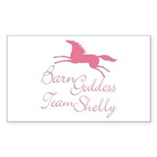 Team Shelly Barn Goddess Rectangle Decal
