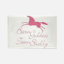Team Shelly Barn Goddess Rectangle Magnet