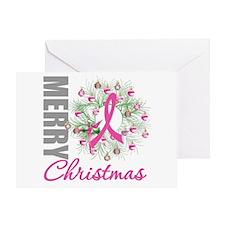 PinkRibbonWreath Greeting Card