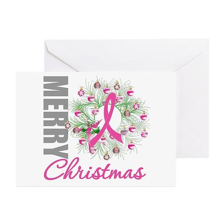 PinkRibbonWreath Greeting Cards (Pk of 20)