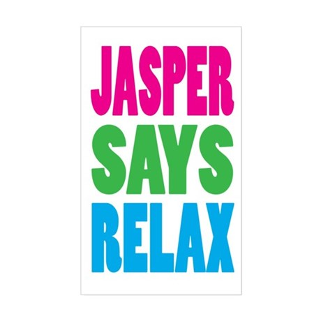 Jasper Says Relax (Color) Rectangle Sticker