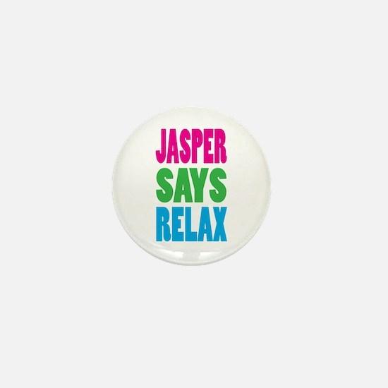 Jasper Says Relax (Color) Mini Button