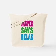 Jasper Says Relax (Color) Tote Bag