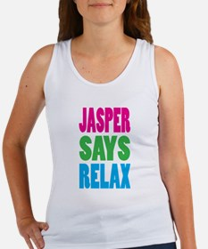 Jasper Says Relax (Color) Women's Tank Top