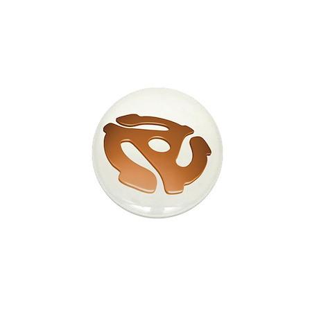Orange 3D 45 RPM Adapter Mini Button (100 pack)