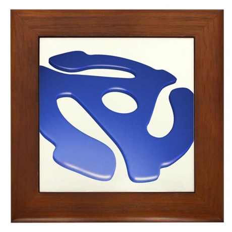 Blue 3D 45 RPM Adapter Framed Tile