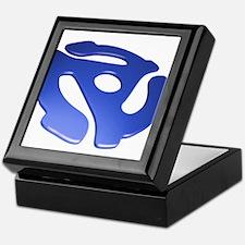 Blue 3D 45 RPM Adapter Keepsake Box