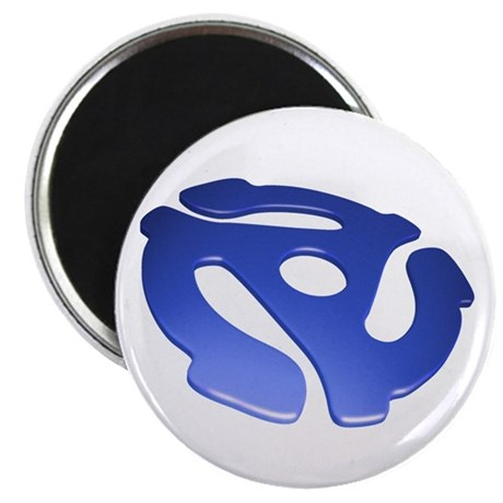Blue 3D 45 RPM Adapter Magnet