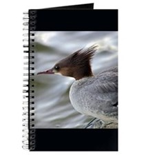 Wild Red Headed Merganser Journal, Black Border