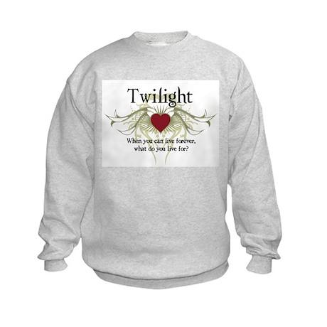 Twilight Live Forever Kids Sweatshirt