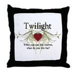 Twilight Live Forever Throw Pillow