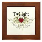 Twilight Live Forever Framed Tile