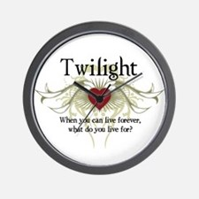 Twilight Live Forever Wall Clock