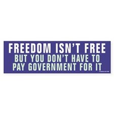 Freedom Isn't Free Bumper Sticker (50 pk)
