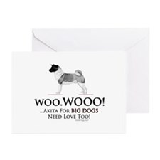 oddFrogg Akita Love Greeting Cards (10 Pk)