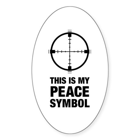 Peace Symbol Oval Sticker