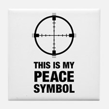 Peace Symbol Tile Coaster