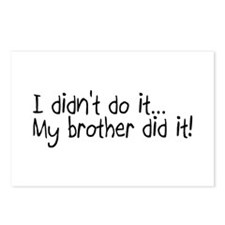 I Didnt Do It, My Brother Did It Postcards (Packag