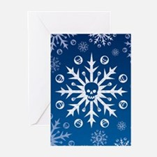 Skullflake (blue) Greeting Cards (Pk of 20)