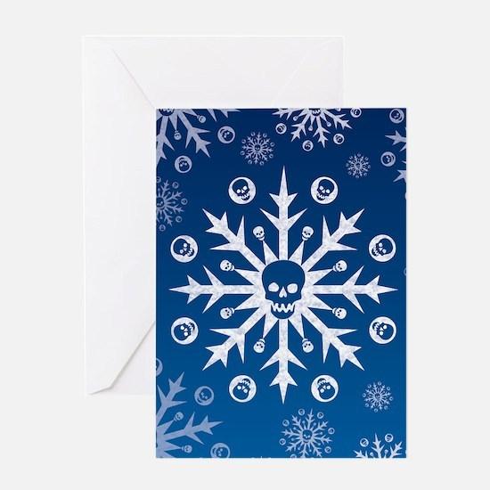 Skullflake (blue) Greeting Card