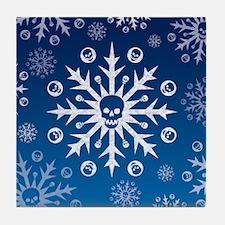 Skullflake (blue) Tile Coaster