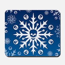 Skullflake (blue) Mousepad