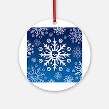 Skullflake (blue) Ornament (Round)