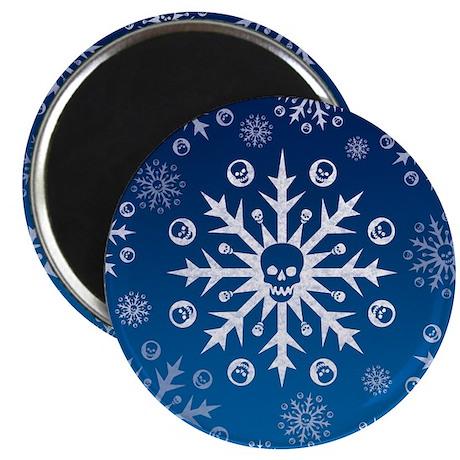 Skullflake (blue) Magnet