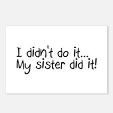 I Didn't Do It, My Sister Did It Postcards (Packag