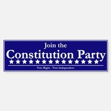 Constitution Party Bumper Bumper Bumper Sticker